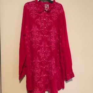 Johnny Was embroidered tunic XL READ DESCRIPTION